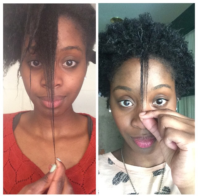 Before big chop vs. after big chop